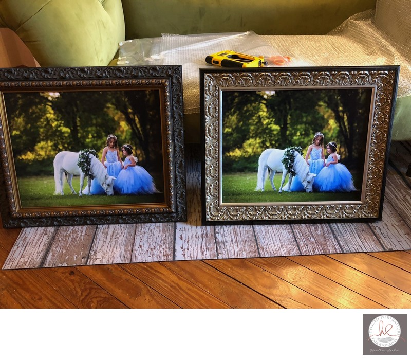 Framed unicorn prints