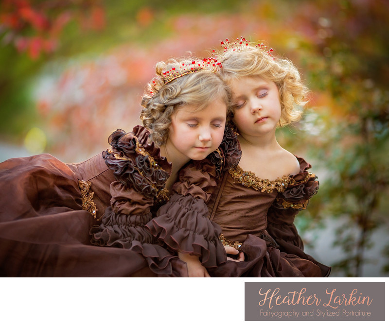 Princess sisters in Brown