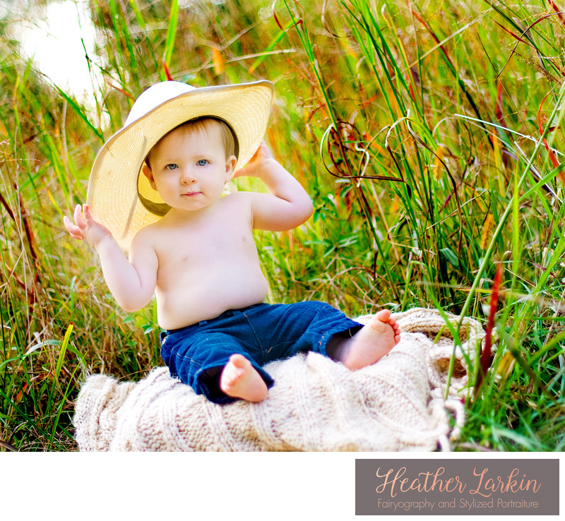 Cowboy hat baby photos
