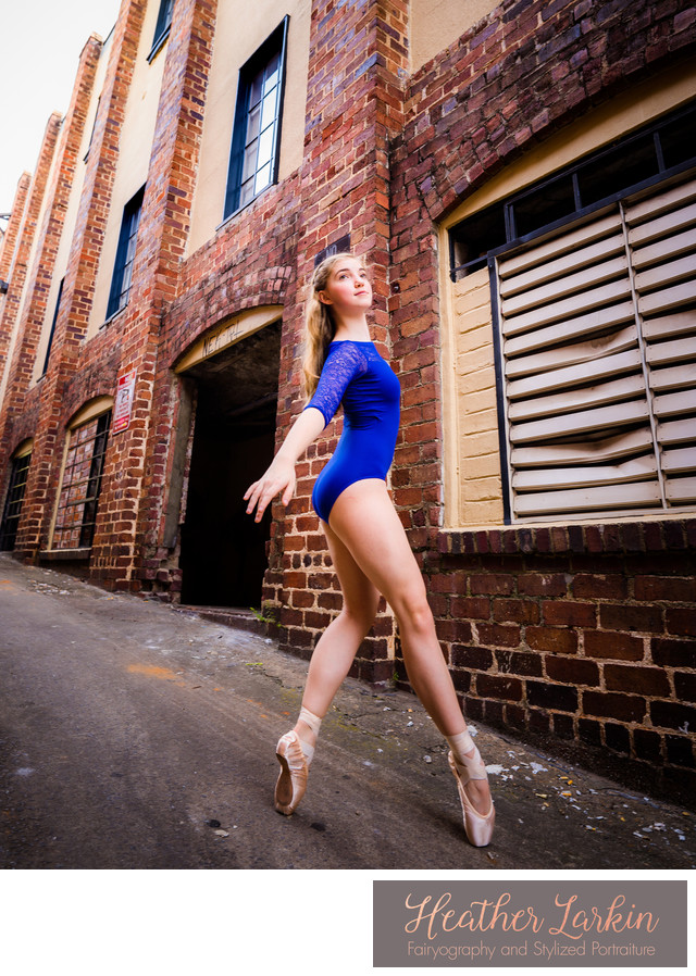 Pointe shoe ballet photographer in Downtown Athens GA