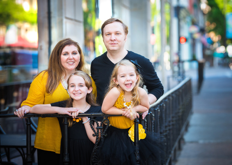 Family Photography in Historic Downtown Athens GA