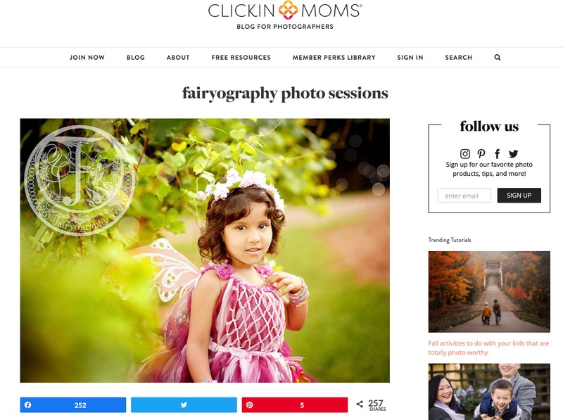 Fairyography published on Clickin Moms
