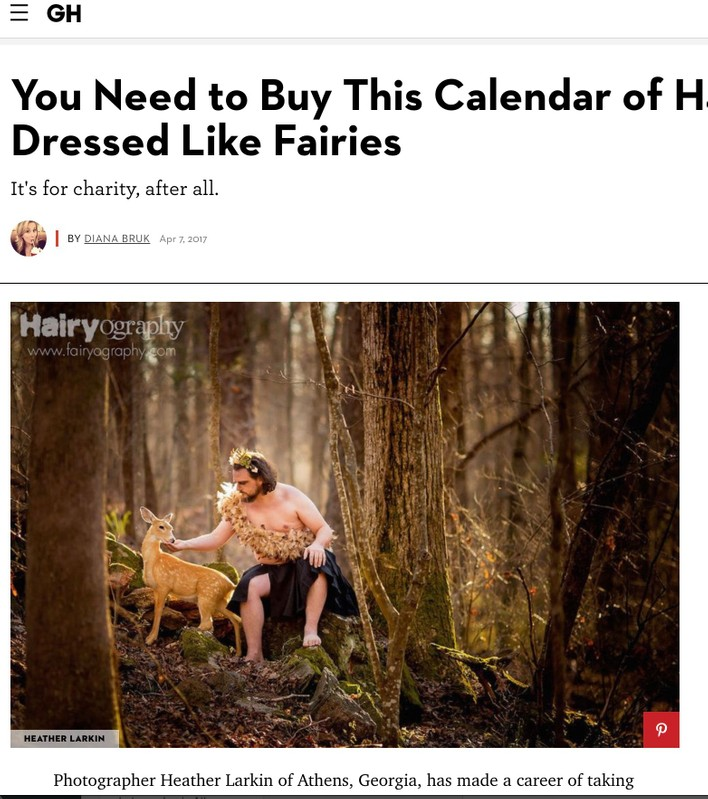 Hairy guys dressed like fairies