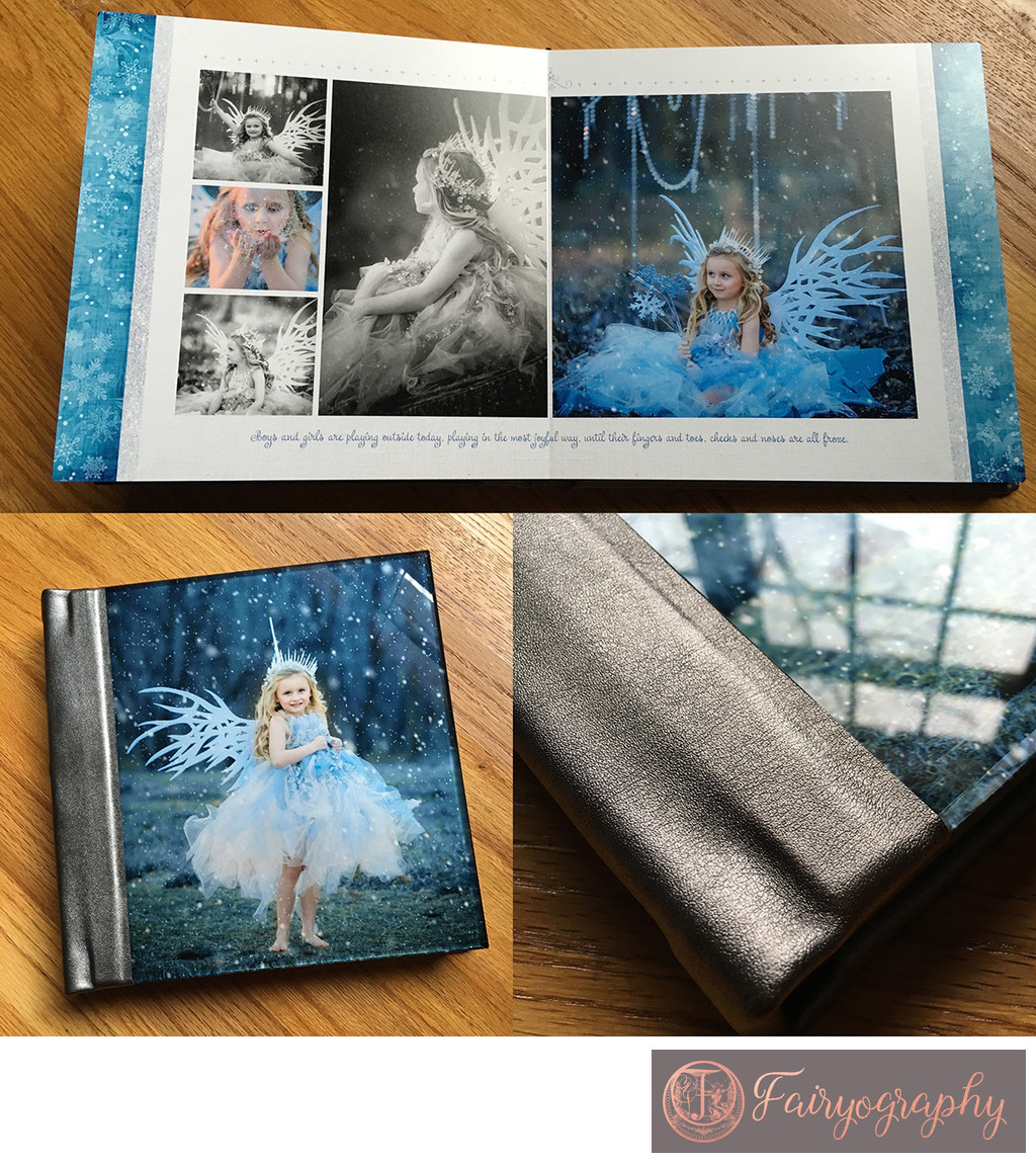 Watkinsville child photographer handmade album