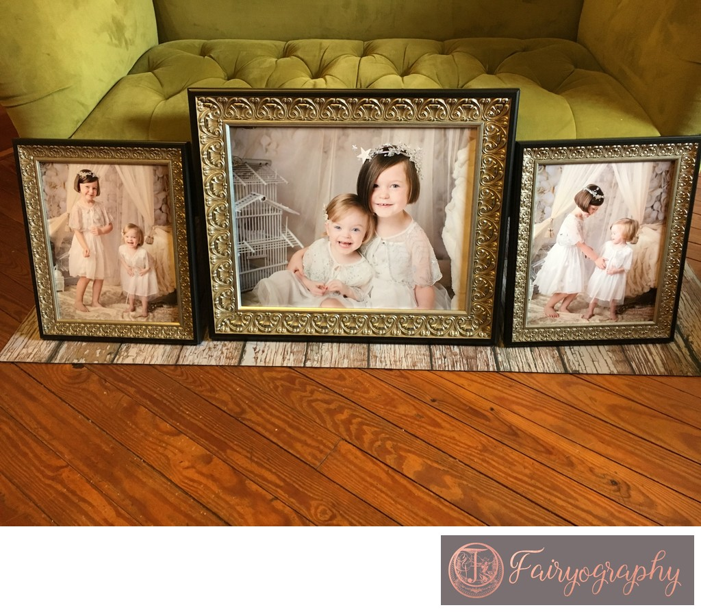 Framed studio portraits from Athens photographer
