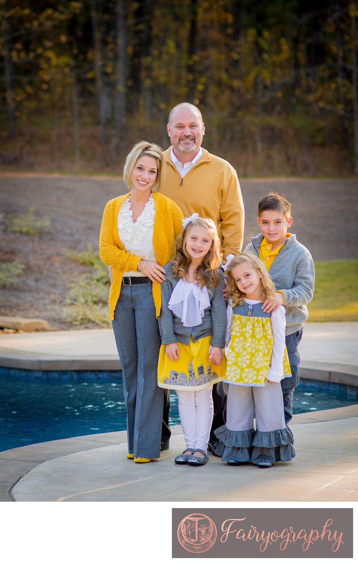 Fall family portrait session at home in Watkinsville Georgia