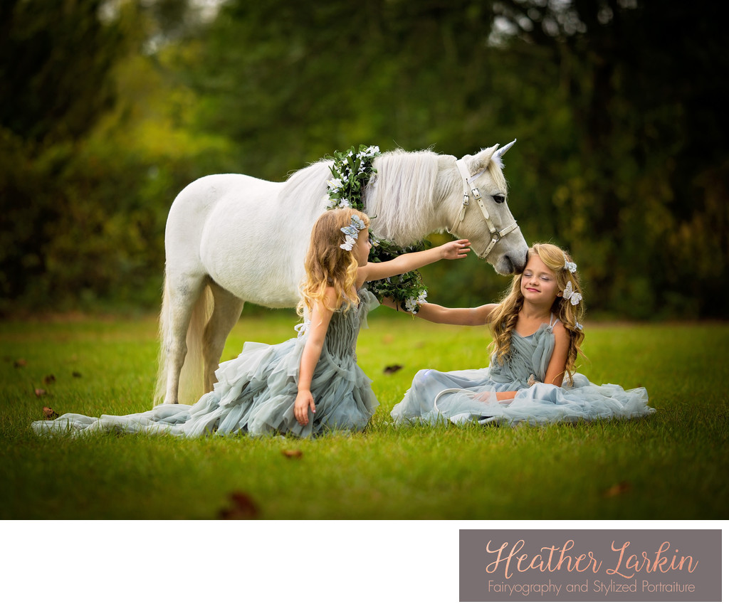Unicorn kisses photography