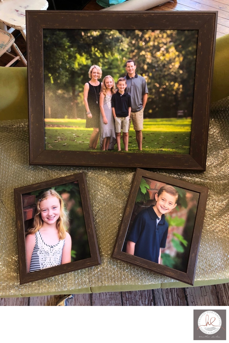 Barnwood framed prints for family Athens