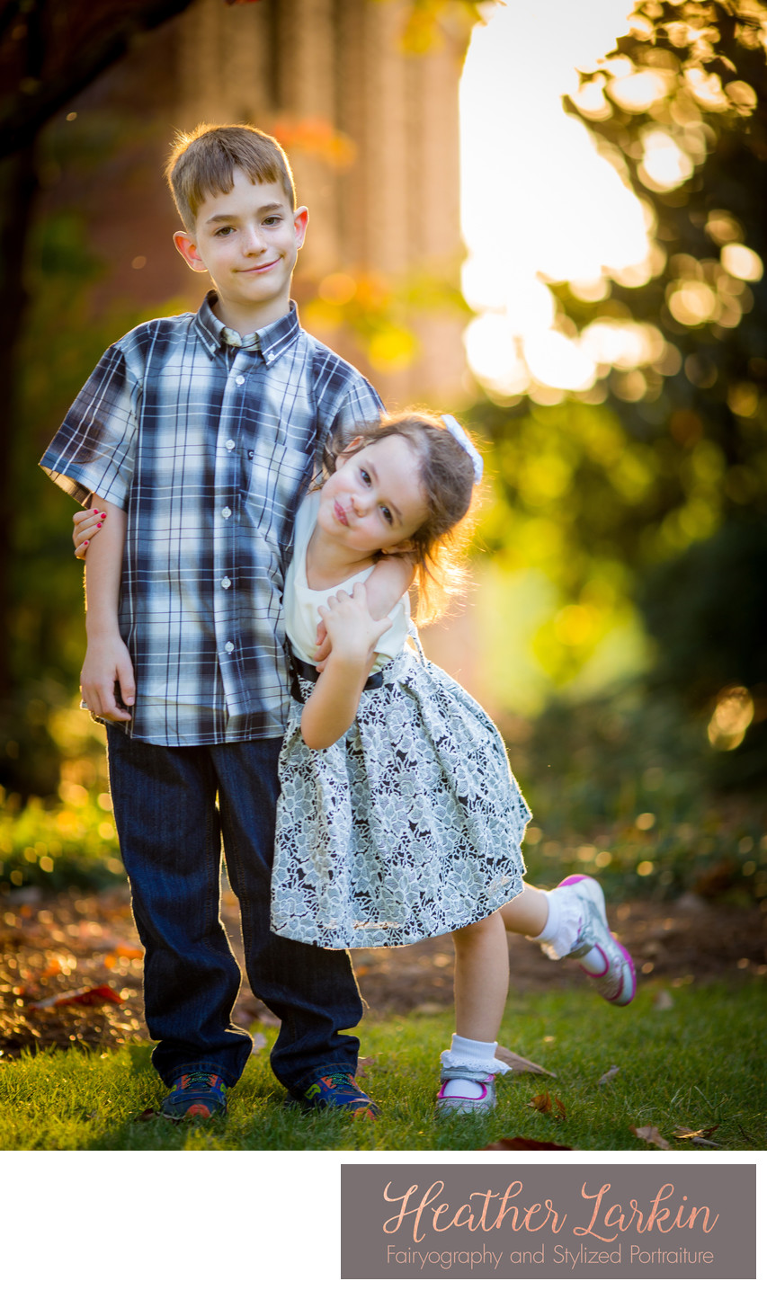 Brother and sister photography Athens ga