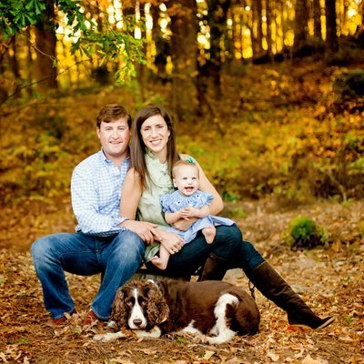 Athens GA fall family portraits at home