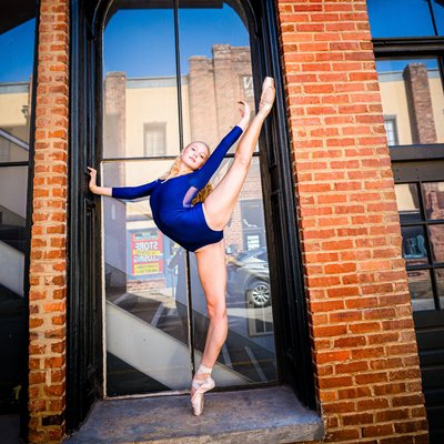 Ballerina in blue Athens GA