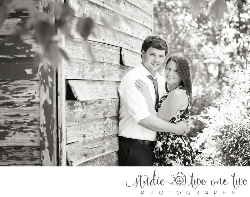 Engagement Photo with barn in SC