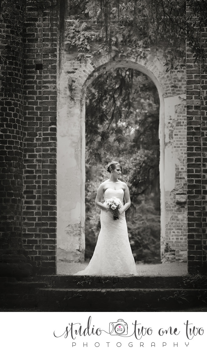 Old Sheldon Church Ruins Wedding