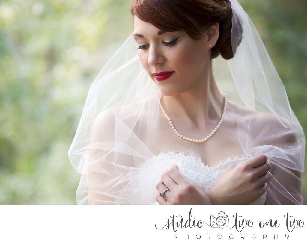 Bridal Portraits at Millstone at Adams Pond