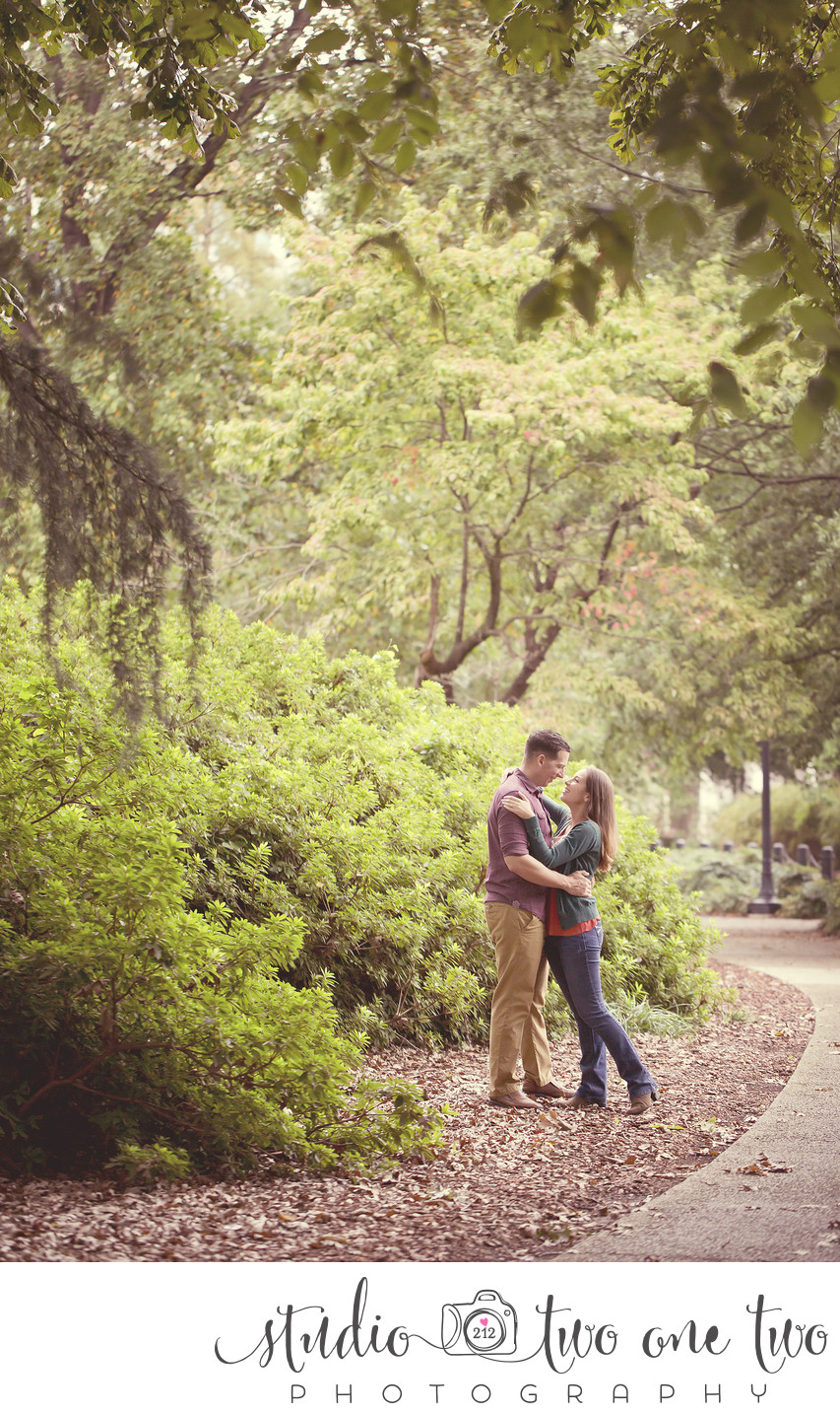 Engagement Photograph at Statehouse grounds in Columbia, SC