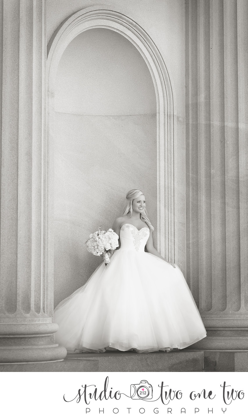 SC Statehouse Bridal Portrait