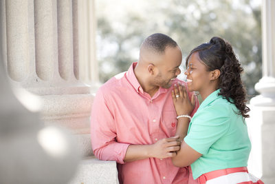 Engagement photos at Statehouse in Columbia, SC