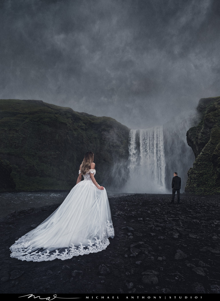 Iceland Skogafoss Destination Wedding