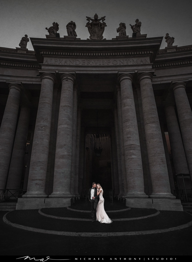 Destination Wedding Photography in Italy at the Vatican