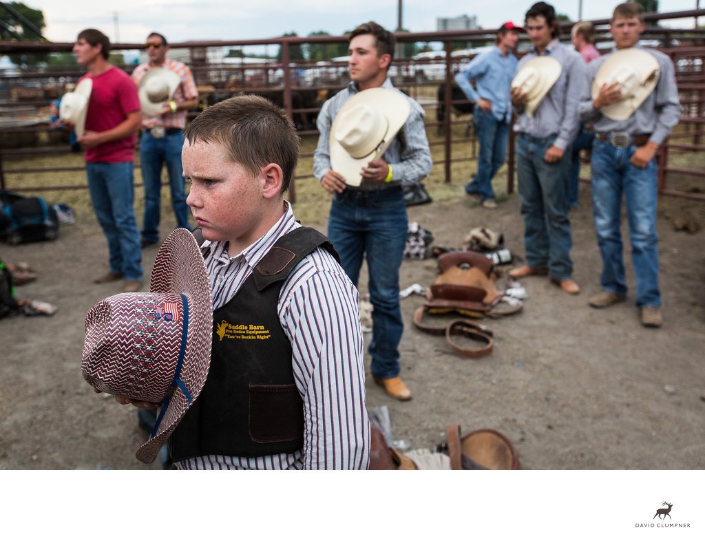 Young Cowboy Prepares for Three Forks Rodeo