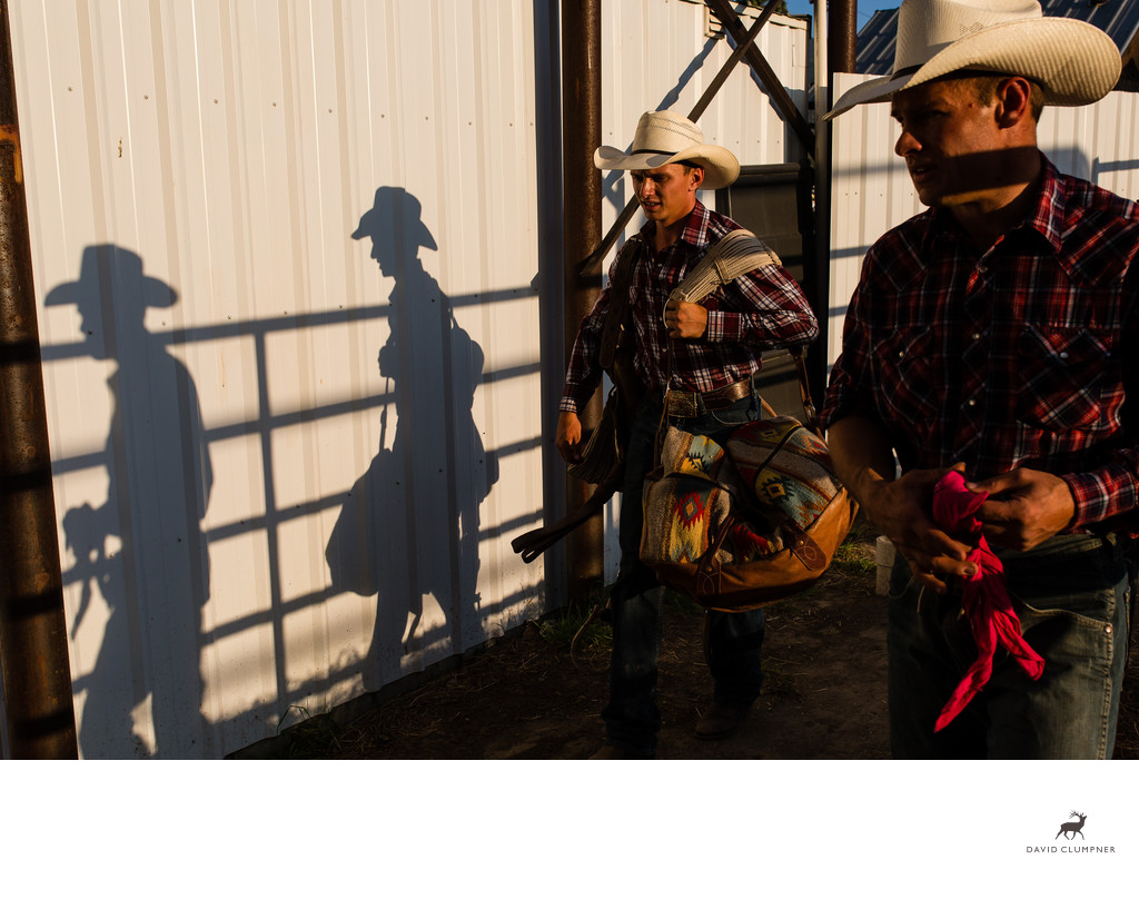 Plains Montana Rodeo Cowboy Shadows