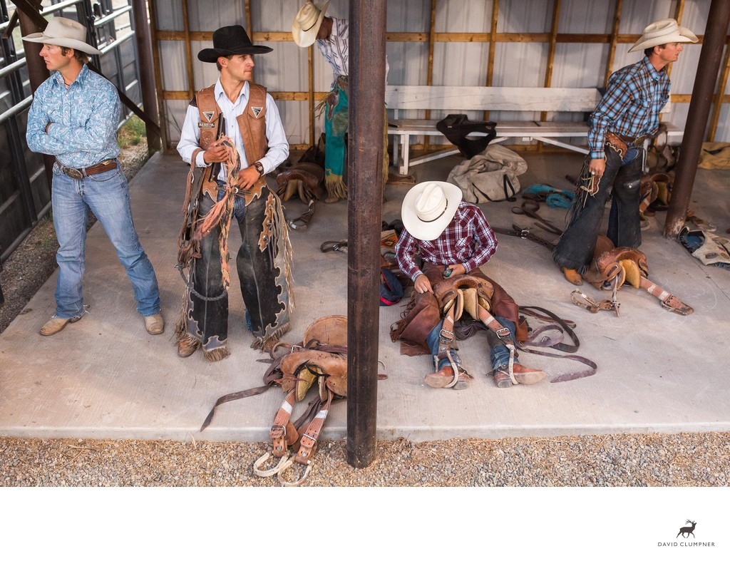 Cowboys Prepare at the Plains Montana Rodeo