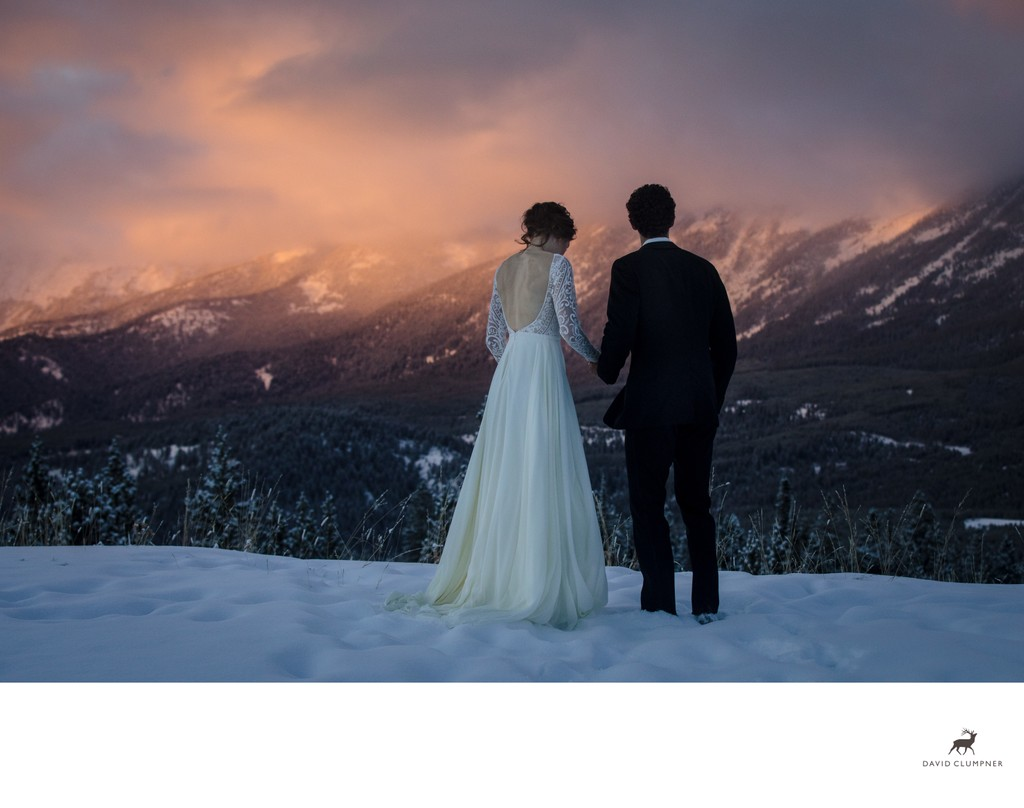 Big Sky Winter Wedding