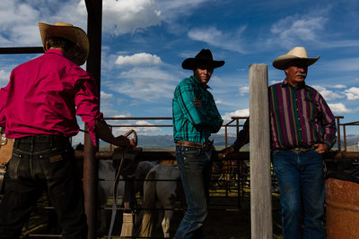 Cowboys at the Wilsall Rodeo in Montana