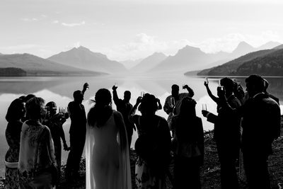 Wedding on Lake McDonald in Glacier National Park