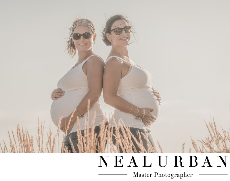 buffalo maternity photography ideas family sister twins