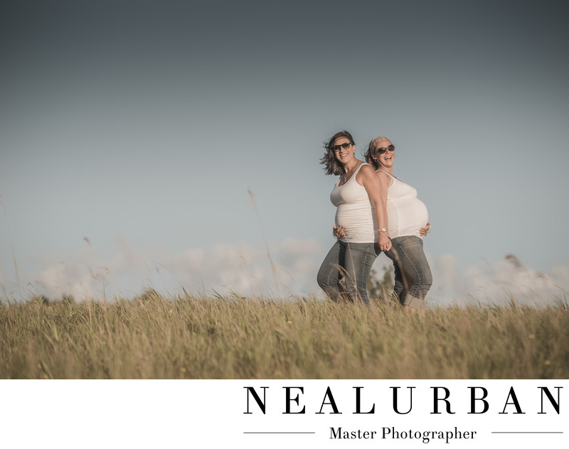 buffalo maternity session two mothers sisters tifft