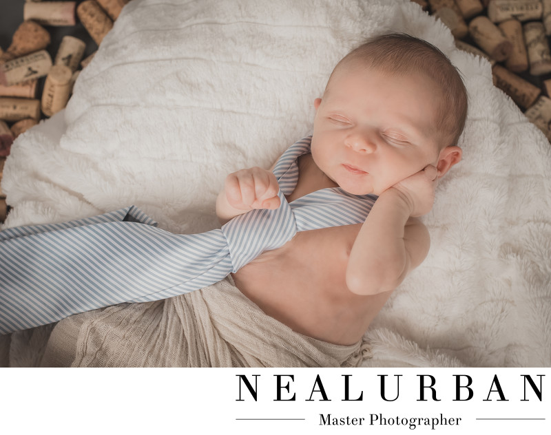 buffalo baby boy newborn photography outfits tie wine