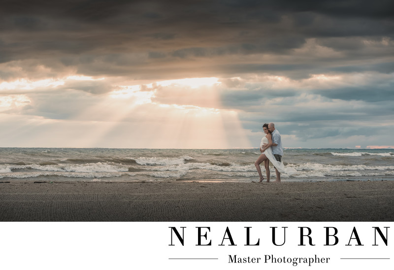 buffalo maternity photography at woodlawn beach at sunset