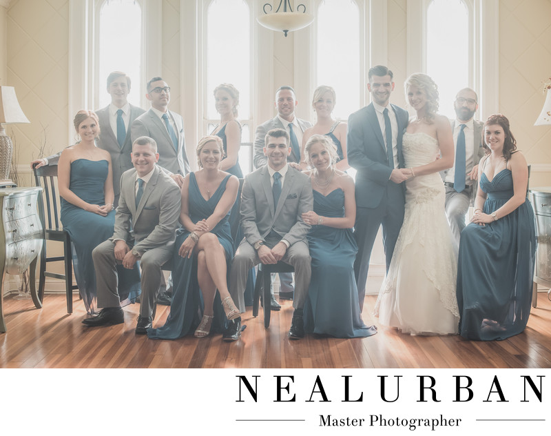 wedding bridal party photography at the tonawanda castle