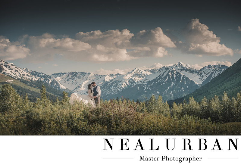 Anchorage alaska wedding photographers seward mountains