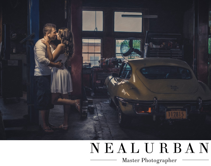 buffalo engagement vintage car idea garage lewiston ny