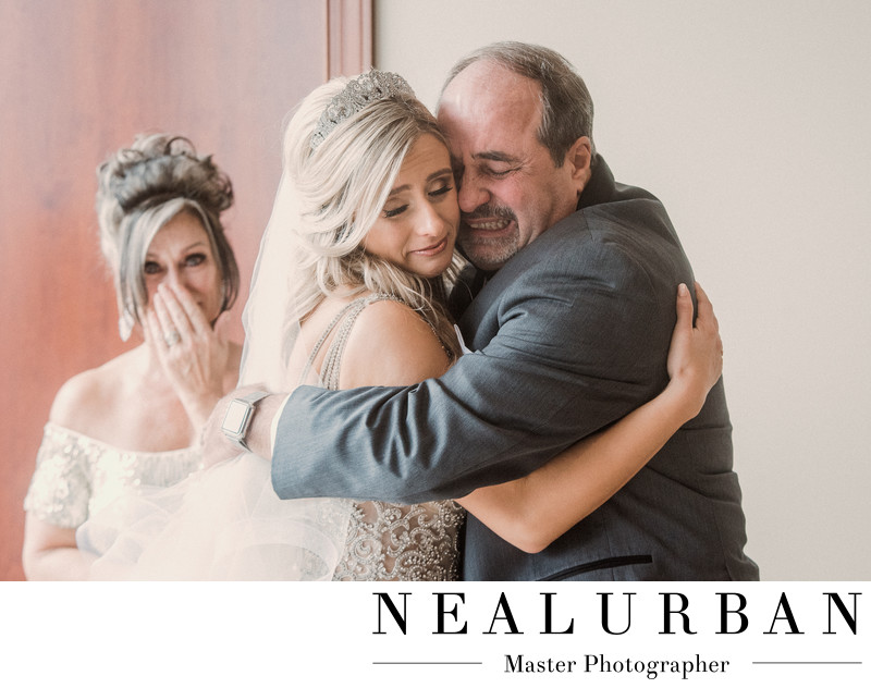Bride's First Look with her Father
