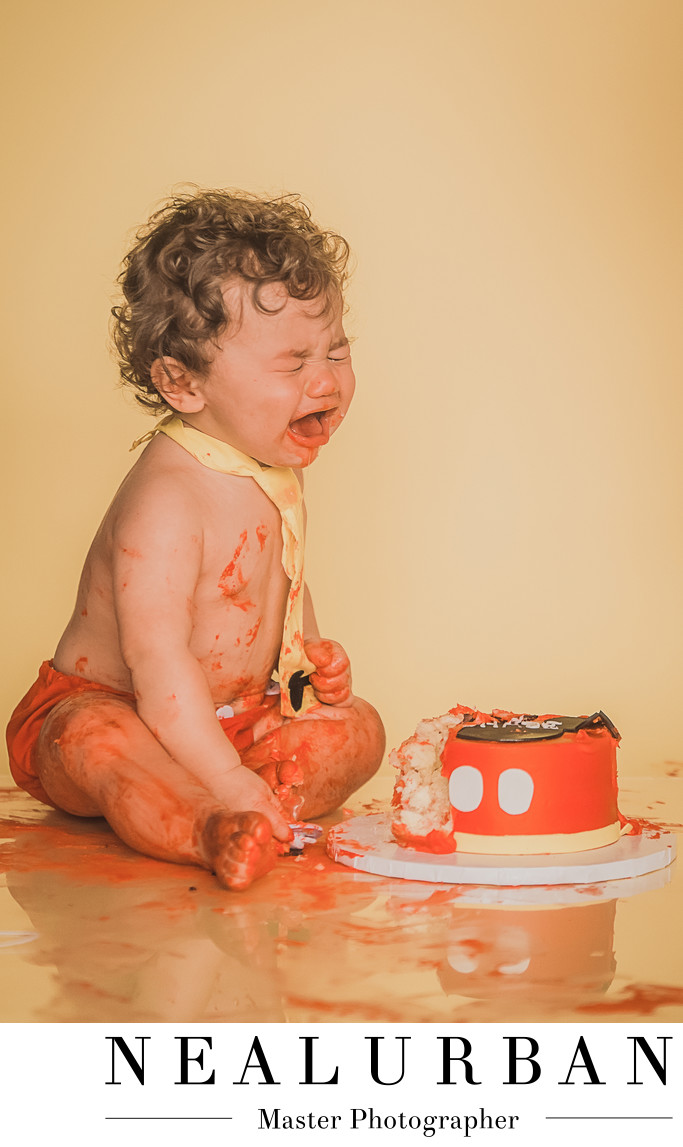 Buffalo First Birthday Cake Smash Photography Studio Fail