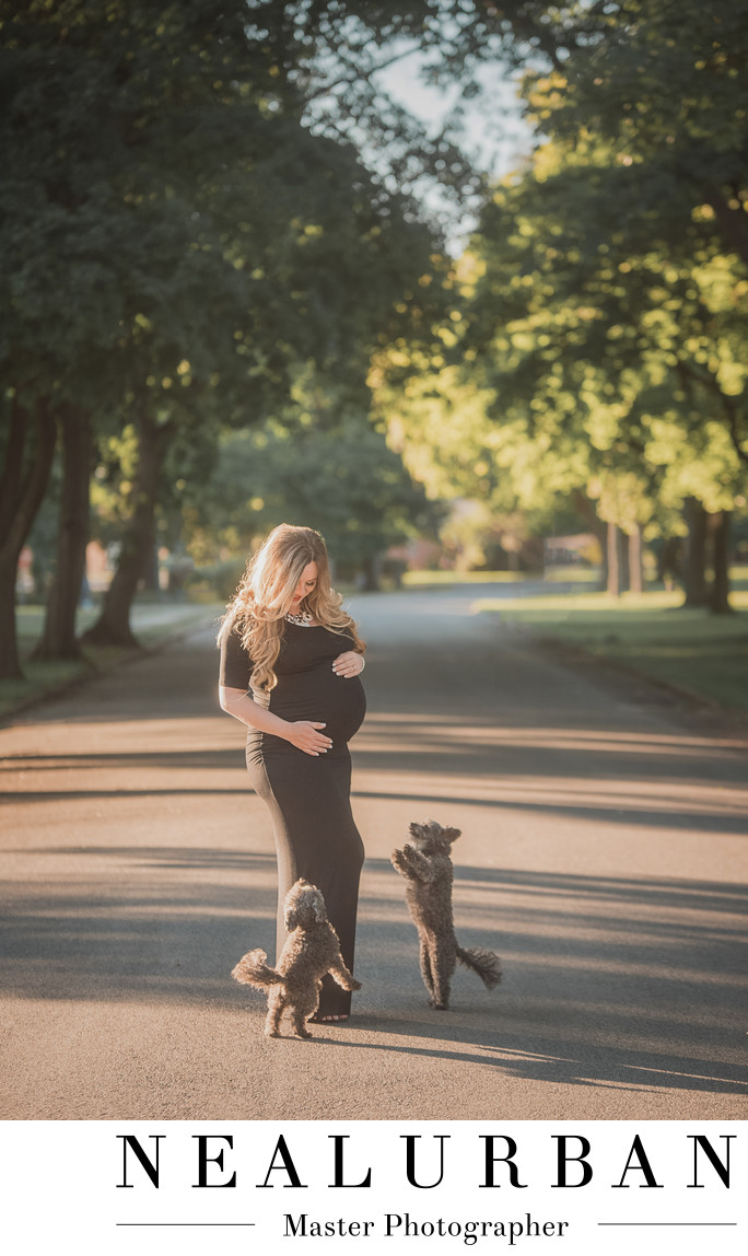 buffalo maternity photographers fort niagara dogs dress