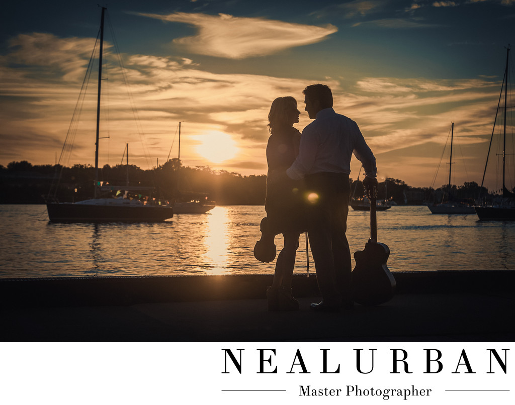 youngstown yacht club wedding engagement sunset reception