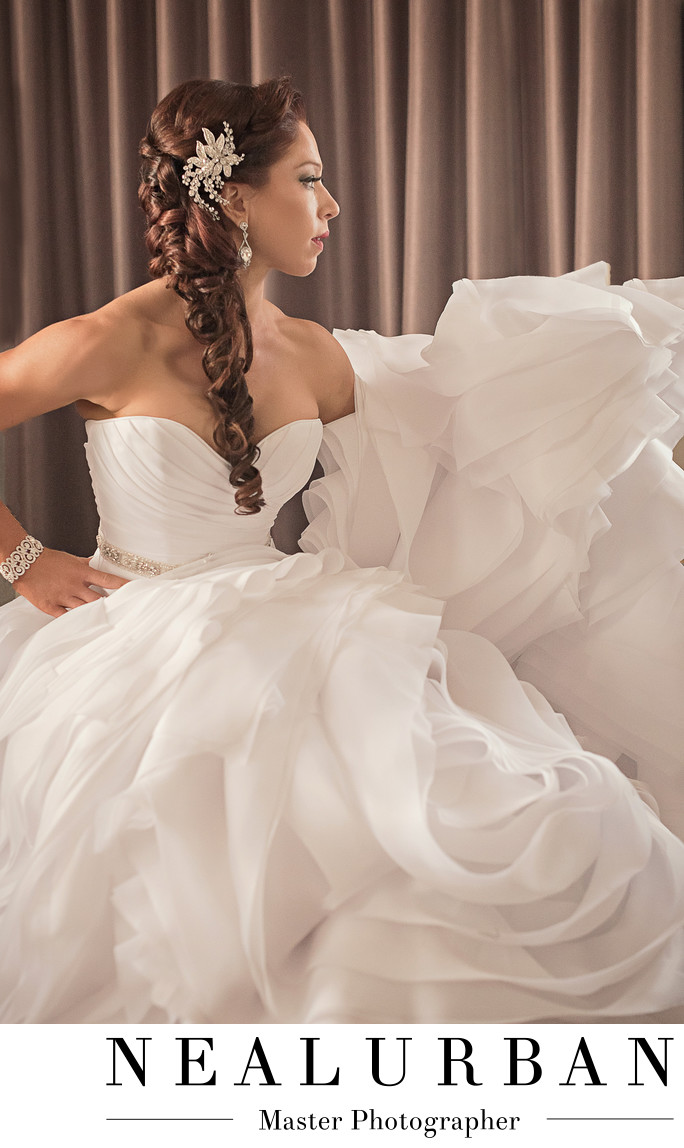 Buffalo wedding bride at hotel lafayette fashion dress