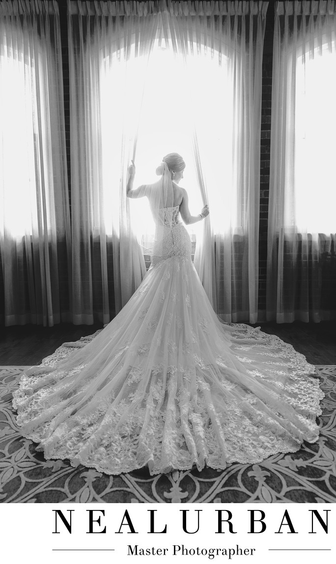 buffalo bridal portrait foundry suites reception dress