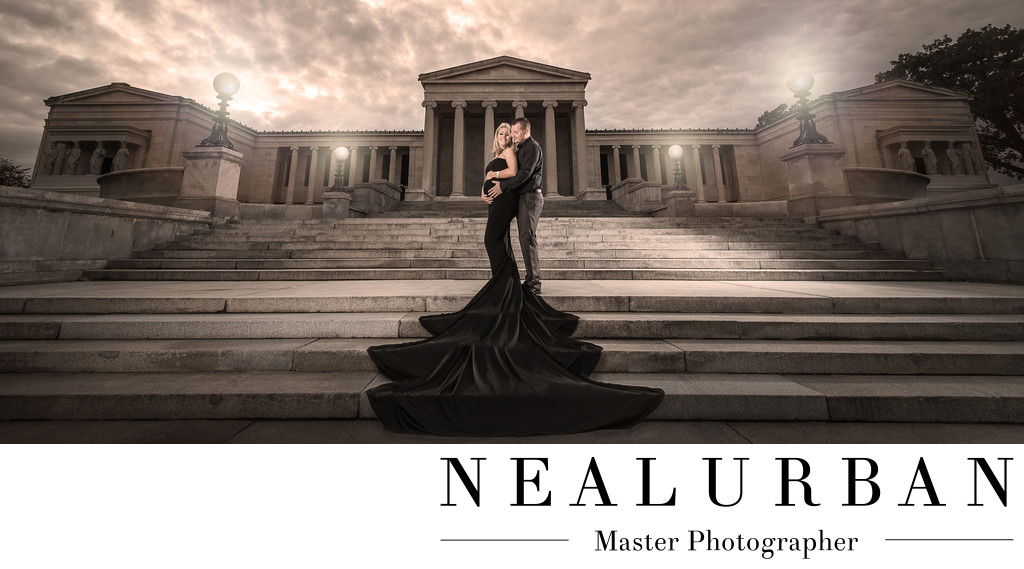 Albright Knox Art Gallery Maternity Session