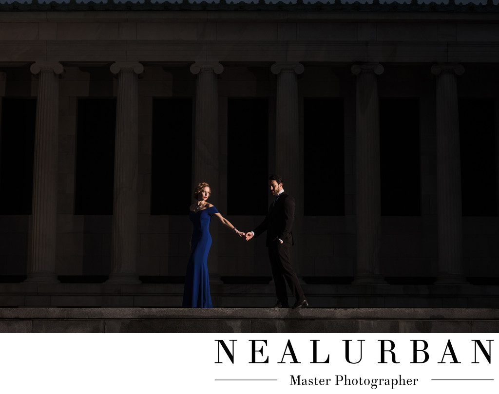 Engagement Session at Albright Knox Art Gallery