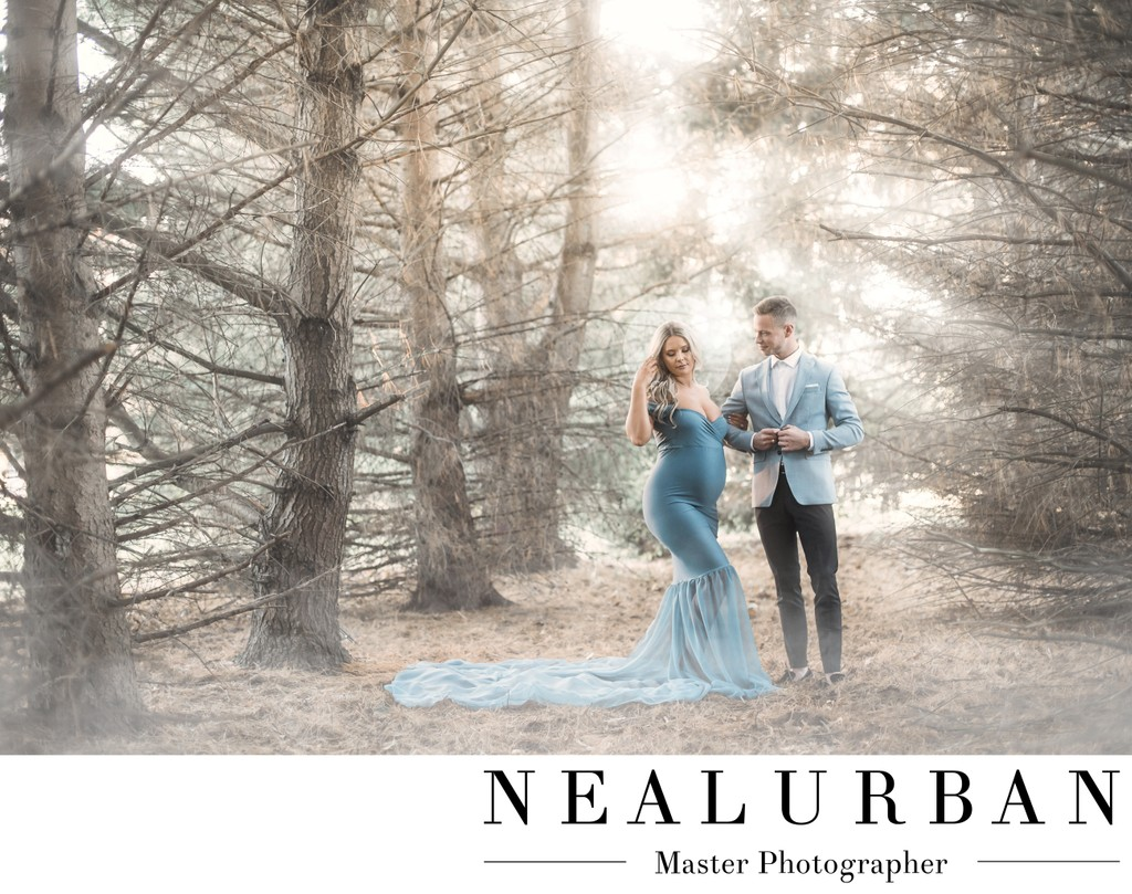 Glowing Maternity Session in the Woods