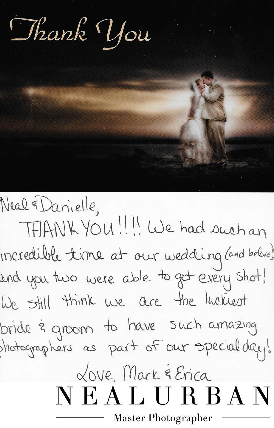 buffalo wedding photographer review and thank you card pearl street