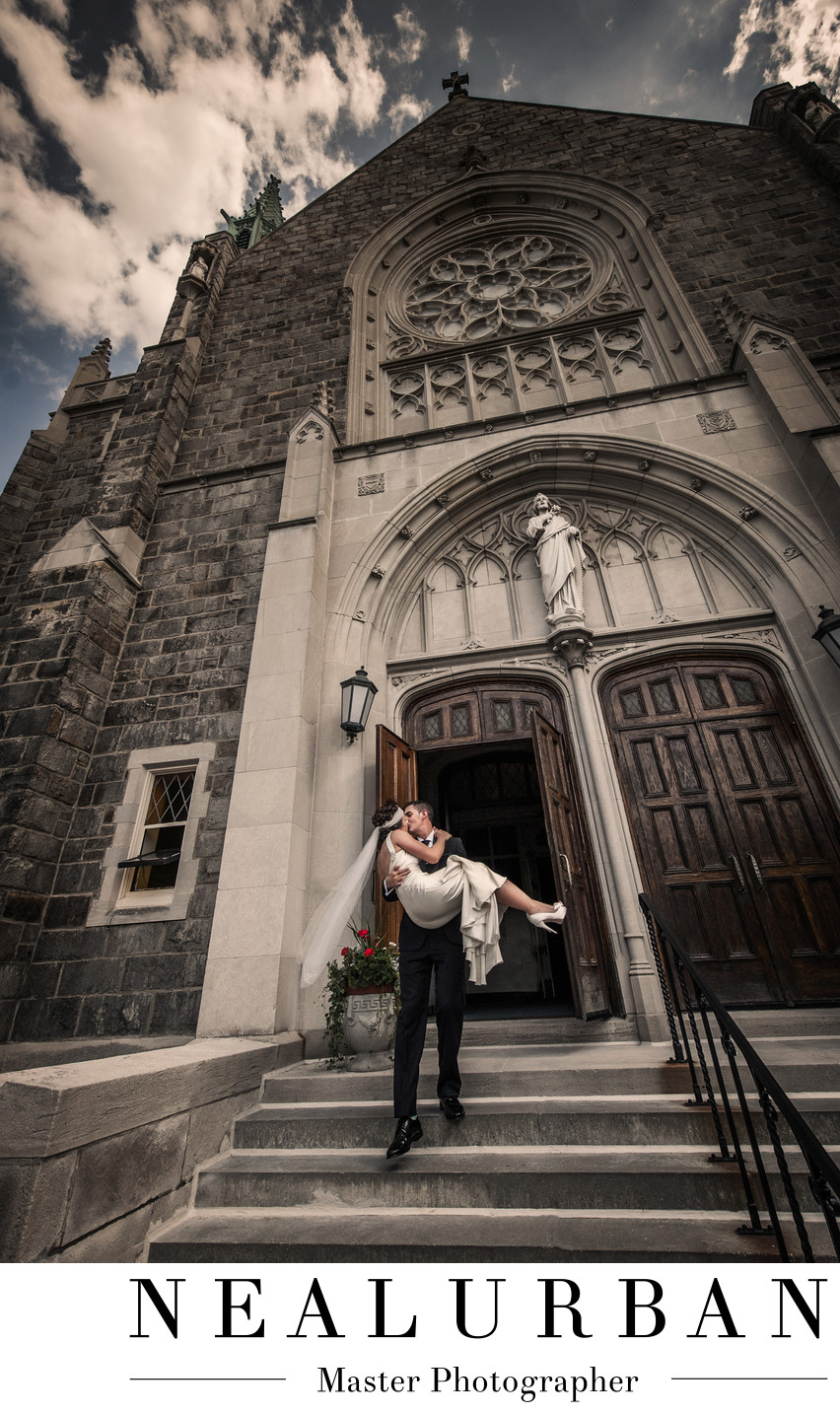 buffalo wedding photography at st joseph university buffalo church