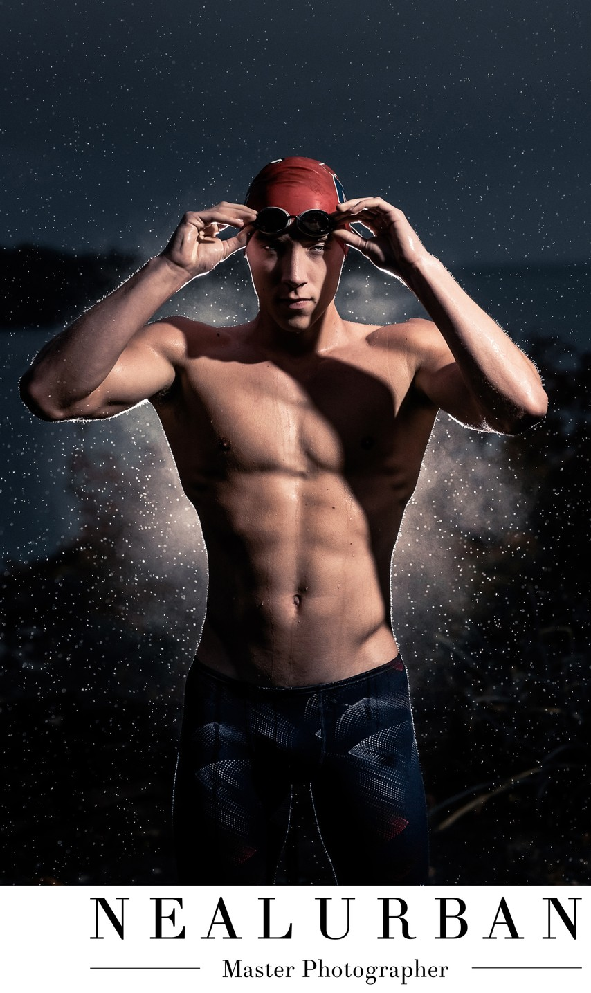 Olympic Swimmer Style Senior Portrait