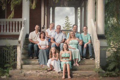 buffalo family portrait photography fort niagara building