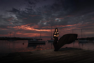 Maternity Session at Youngstown Yacht Club